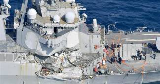 7 U.S. Sailors Unaccounted for After Navy Destroyer Collides With Ship Off Japan