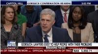 Cover-Up: ABC, CBS, CNN, MSNBC, NBC Ignore Gorsuch Hearing, Opening Statement