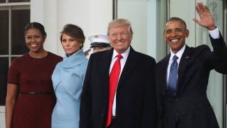 Inauguration Day: See Obamas Greet Trumps at White House