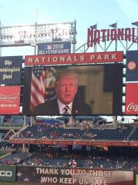 Report: Dem Staffers Boo Trump at Unity Baseball Game