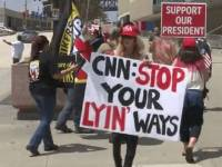 Protesters at CNN Headquarters Rally Against Fake News, 'Journalistic Malpractice on a Daily Basis'