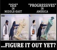 Two SICK Photos Show Exactly What ISIS And Progressives Have In Common