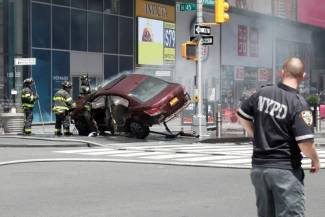 Car slams into Times Square pedestrians, killing one, injuring others